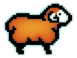 Digiwool Orange Digisheep Logo Design