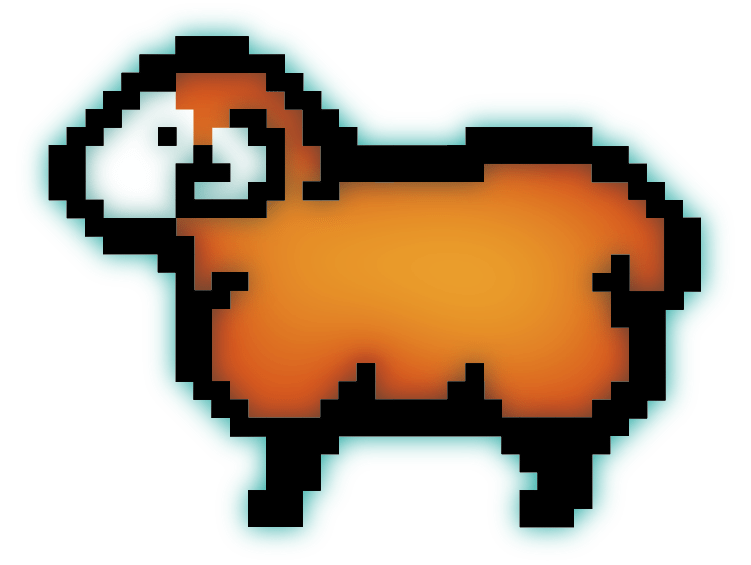 Digiwool Digisheep Logo Design Looking Left