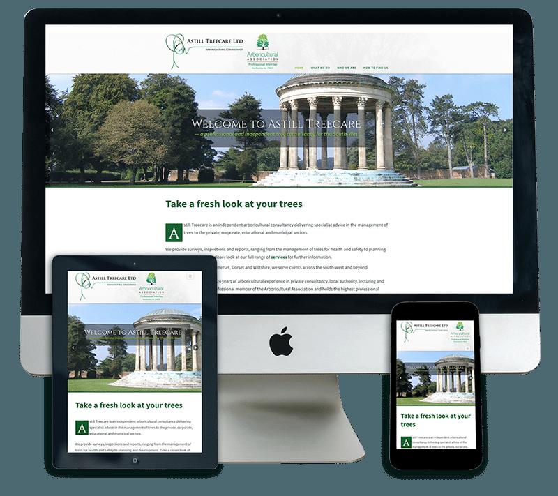 Astill Treecare Responsive Web Design Dorset