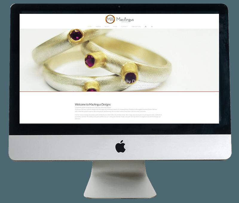 MacAngus Website on iMac by Digiwool Web Design Sherborne
