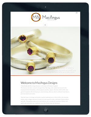 MacAngus Website on iPad by Digiwool Web Design Sherborne