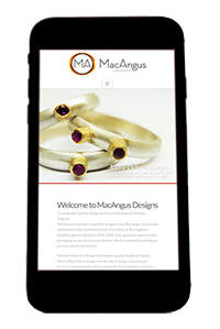 MacAngus Website on iPhone by Digiwool Web Design Sherborne