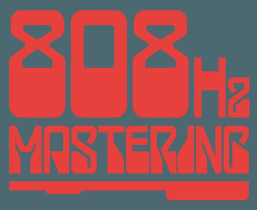 808Hz Mastering Logo on White Design by Digiwool