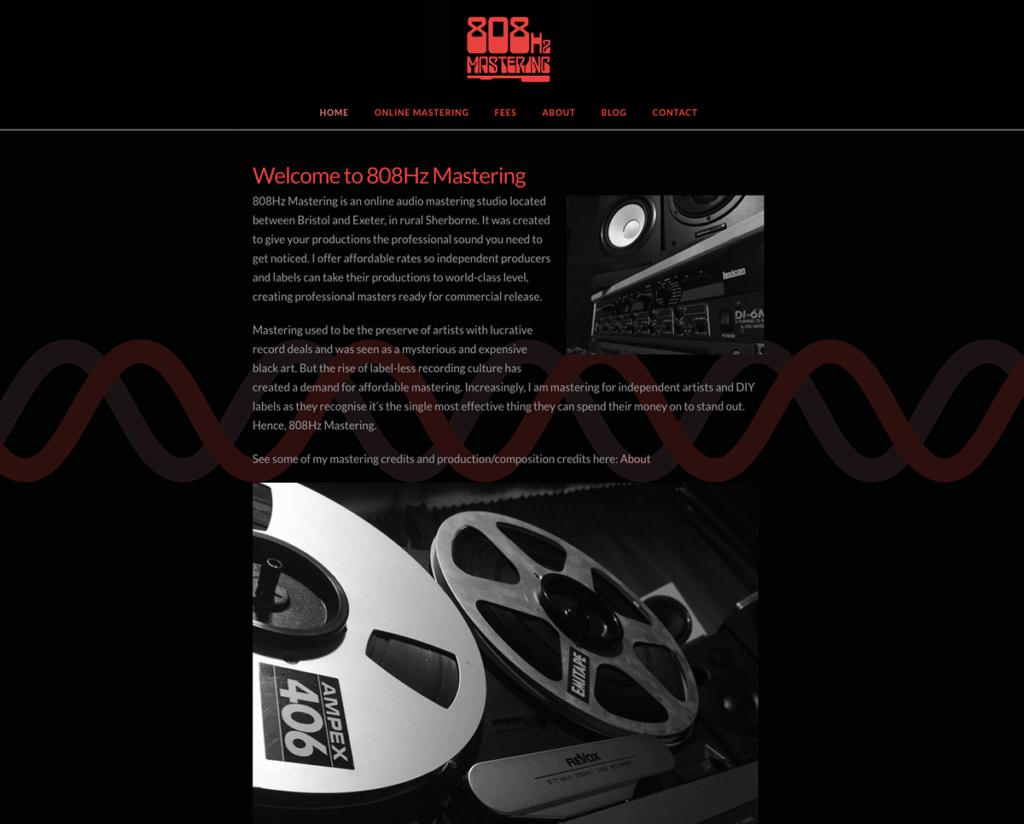 808Hz's Logo and Website Design