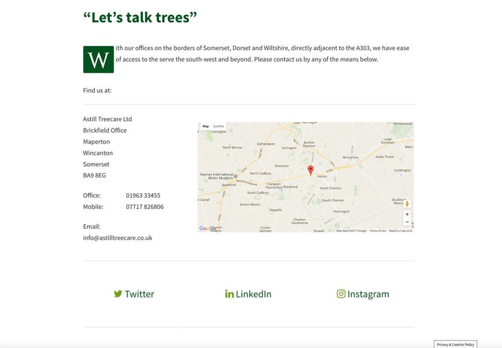 Astill TreecareLet's Talk Trees by Digiwool Web Design Sherborne