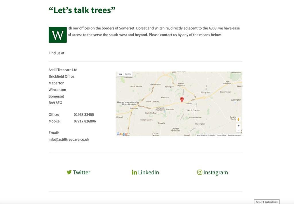 Astill TreecareLet's Talk Trees by Digiwool Web Design Sherborne