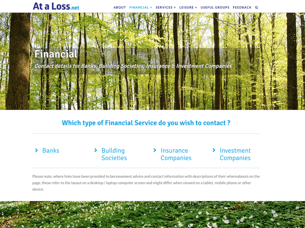 At A Loss Web Design Dorset Which Type of Service