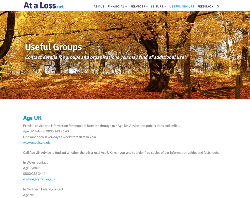 At A Loss Web Design Dorset Useful Groups