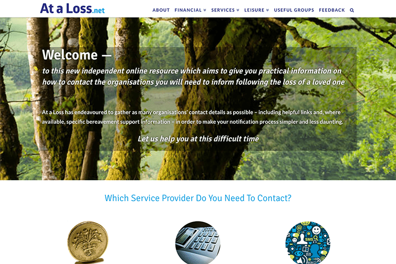 At a Loss - Digiwool Web Design Sherborne