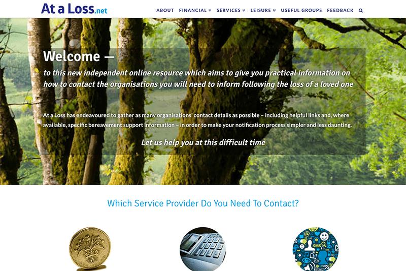 At a Loss - Digiwool Web Design Dorset