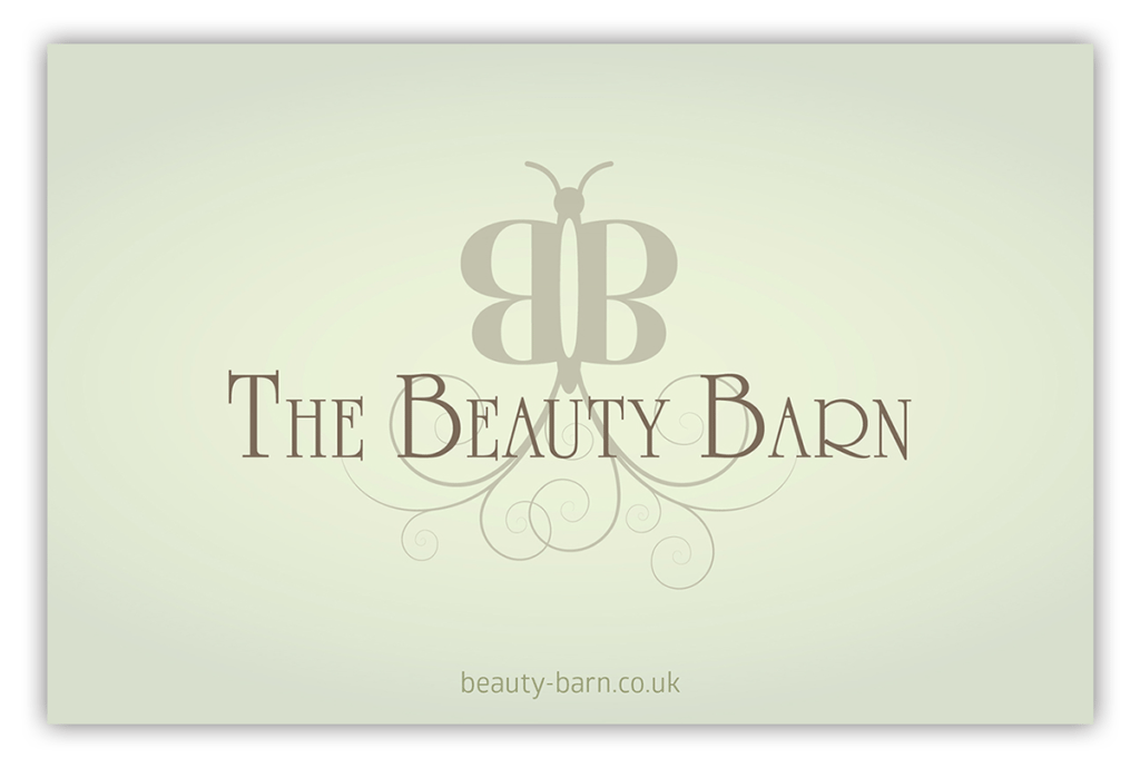 The Beauty Barn Business Card Design by Digiwool Sherborne
