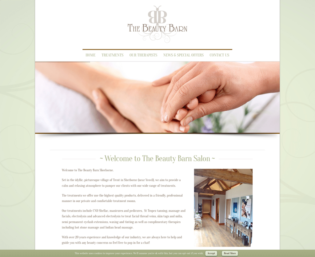 The Beauty Barn's Logo and Website Design by Digiwool