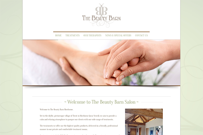 The Beauty Barn Trent Photorganised — Digiwool Web Design Dorset