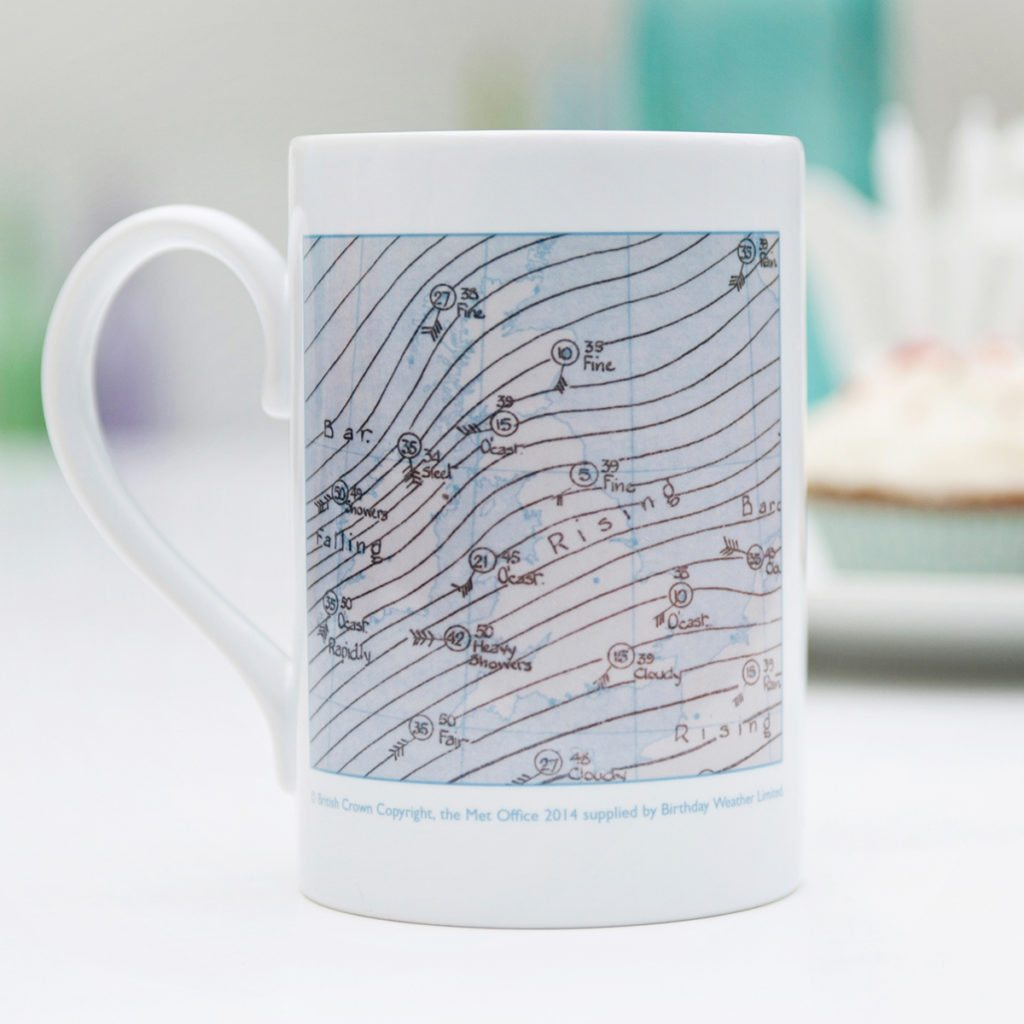 Birthday Weather Mug Product Design Sherborne
