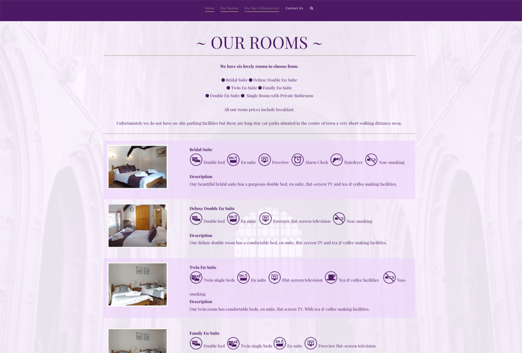 The Britannia Inn Hotel Sherborne Web Design Our Rooms