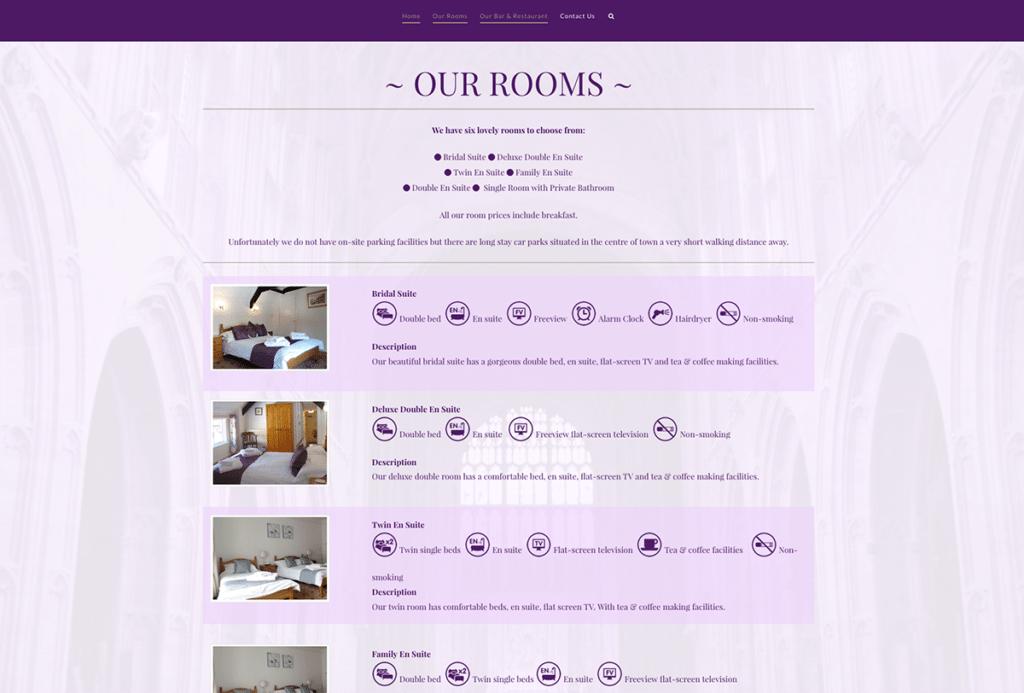 The Britannia Inn Hotel Sherborne Web Design Our Rooms