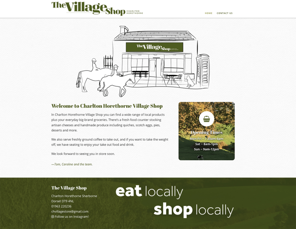 Charlton Horethorne Village Shop Web Design Sherborne Home Page