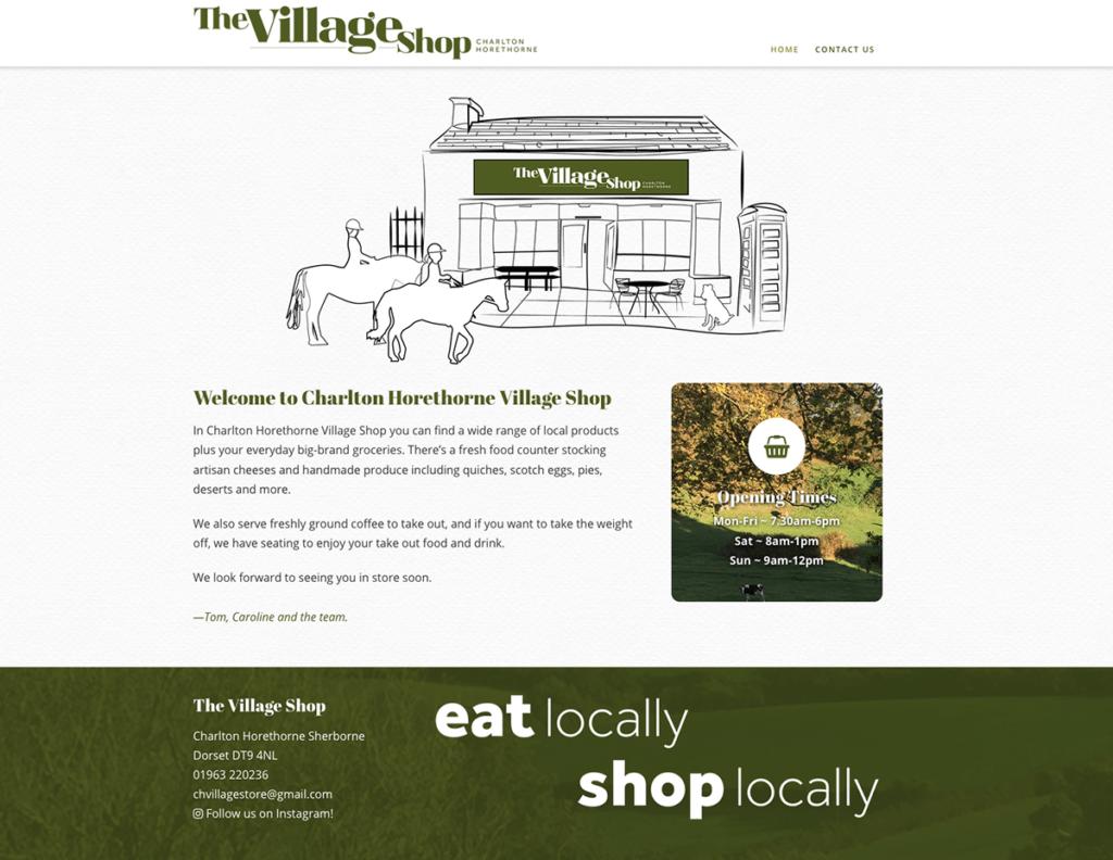Charlton Horethorne Village Shop Web Design Sherborne Home Page