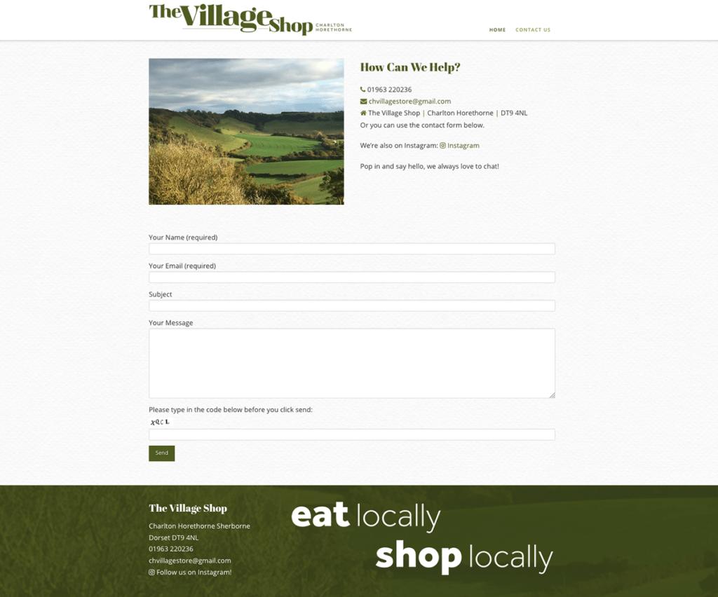 Charlton Horethorne Village Shop Web Design Sherborne Contact