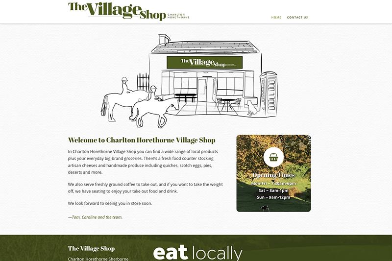 Charlton Horethorne Village Shop — Digiwool Web Design Sherborne