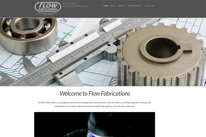 Flow Fabrications — Digiwool Web Design Dorset