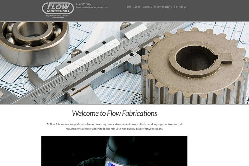 Flow Fabrications Portfolio — Digiwool Web Design Dorset