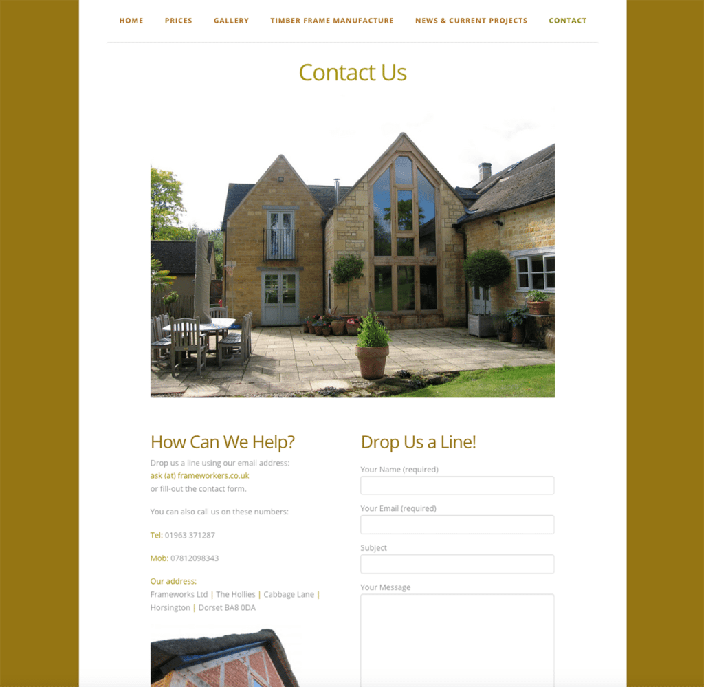 Frameworks — Web Design Dorset Contact