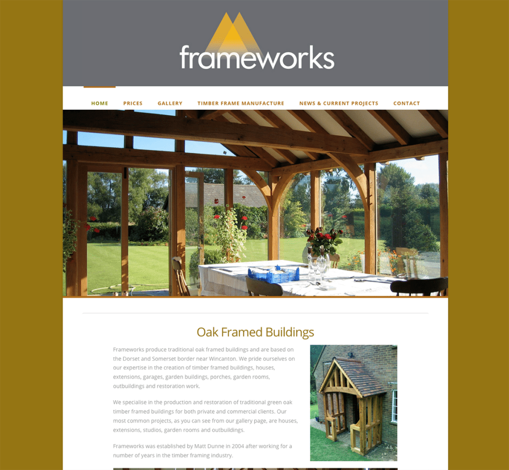 Frameworks — Web Design Dorset Home