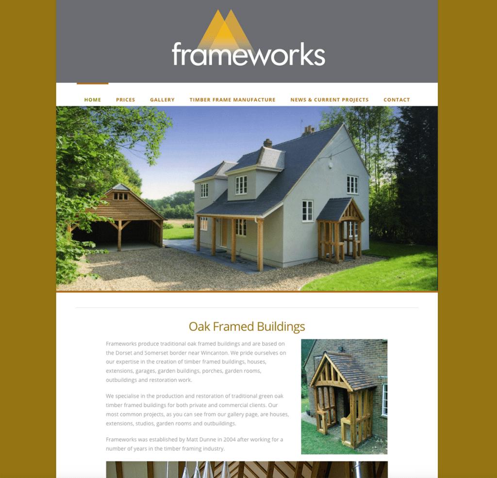 Frameworks — Web Design Dorset Oak Frame Buildings