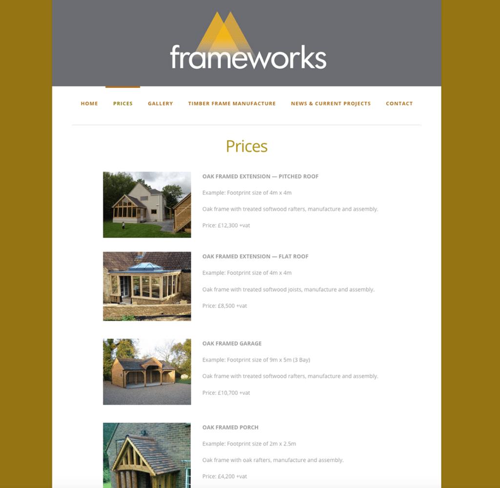 Frameworks — Web Design Dorset Prices