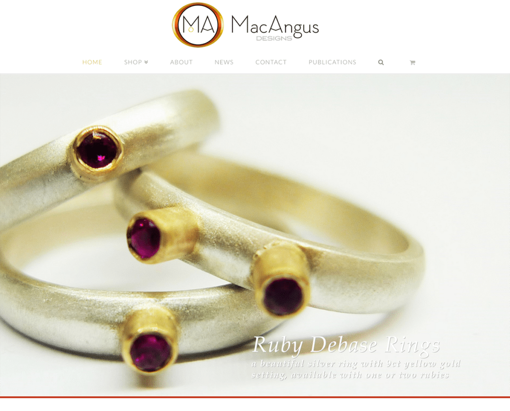 MacAngus Designs' E-Commerce Website and Logo Design
