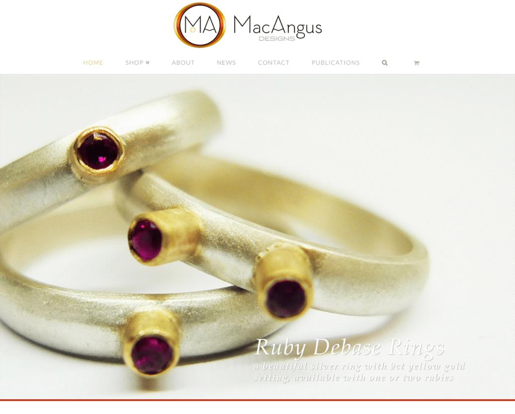 MacAngus Designs Jewellery e-Commerce Dorset