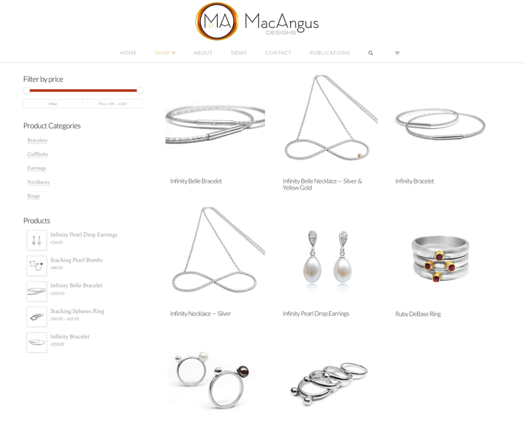 MacAngus Designs Online Shop Page Web Design by Digiwool