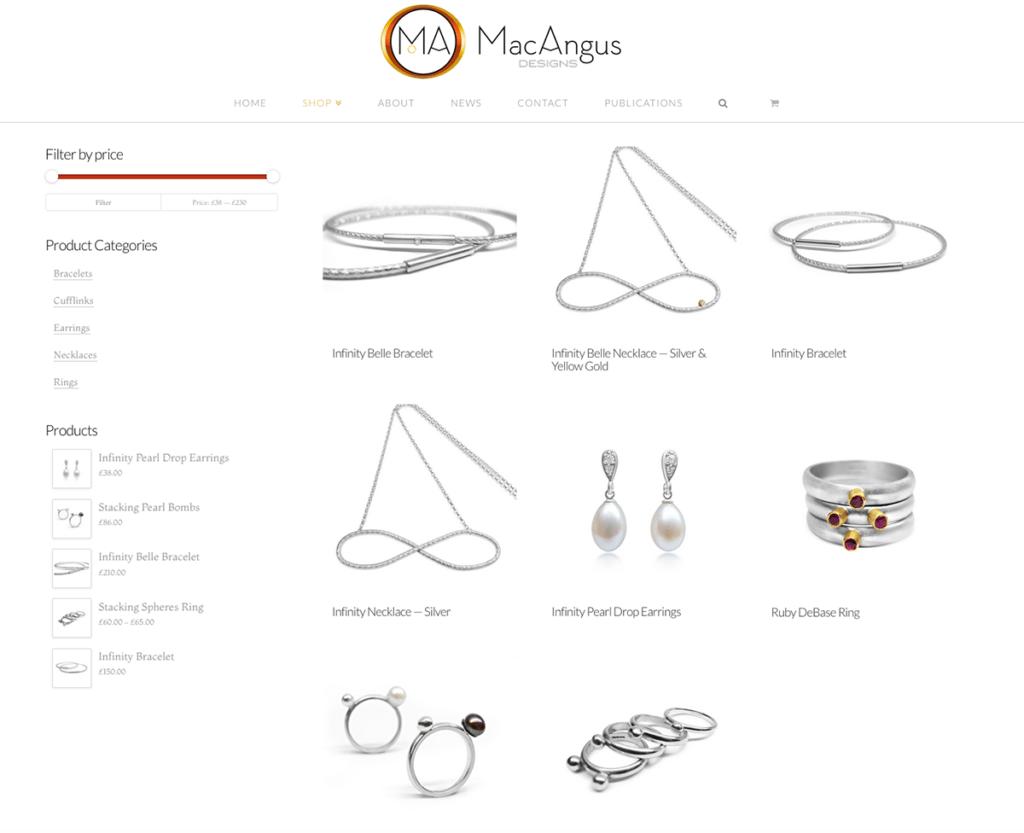 MacAngus Designs e-Commerce Web Design Dorset Product Page
