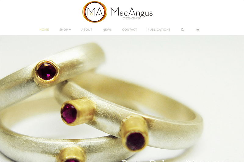 MacAngus Designs Jewellery eCommerce Web Design Dorset