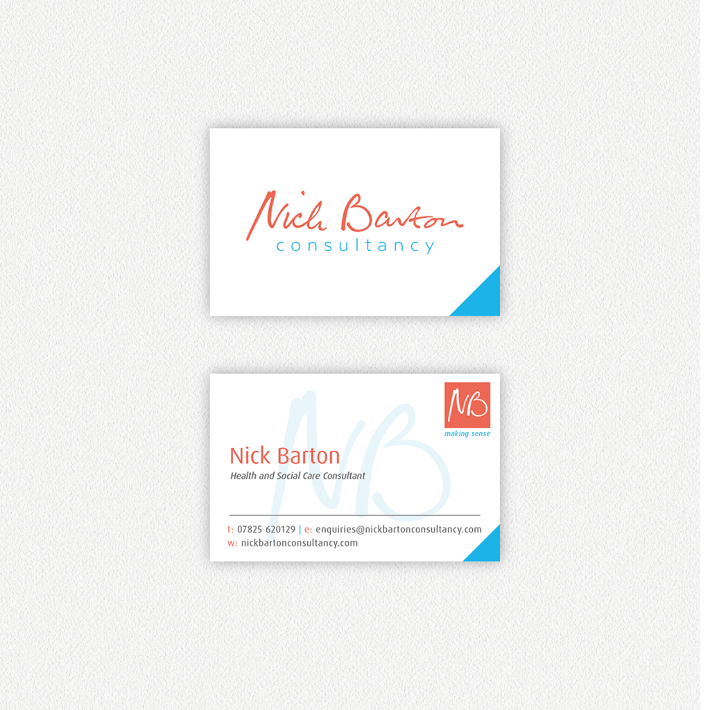 Nick Barton Consultancy — Business Card Design Dorset