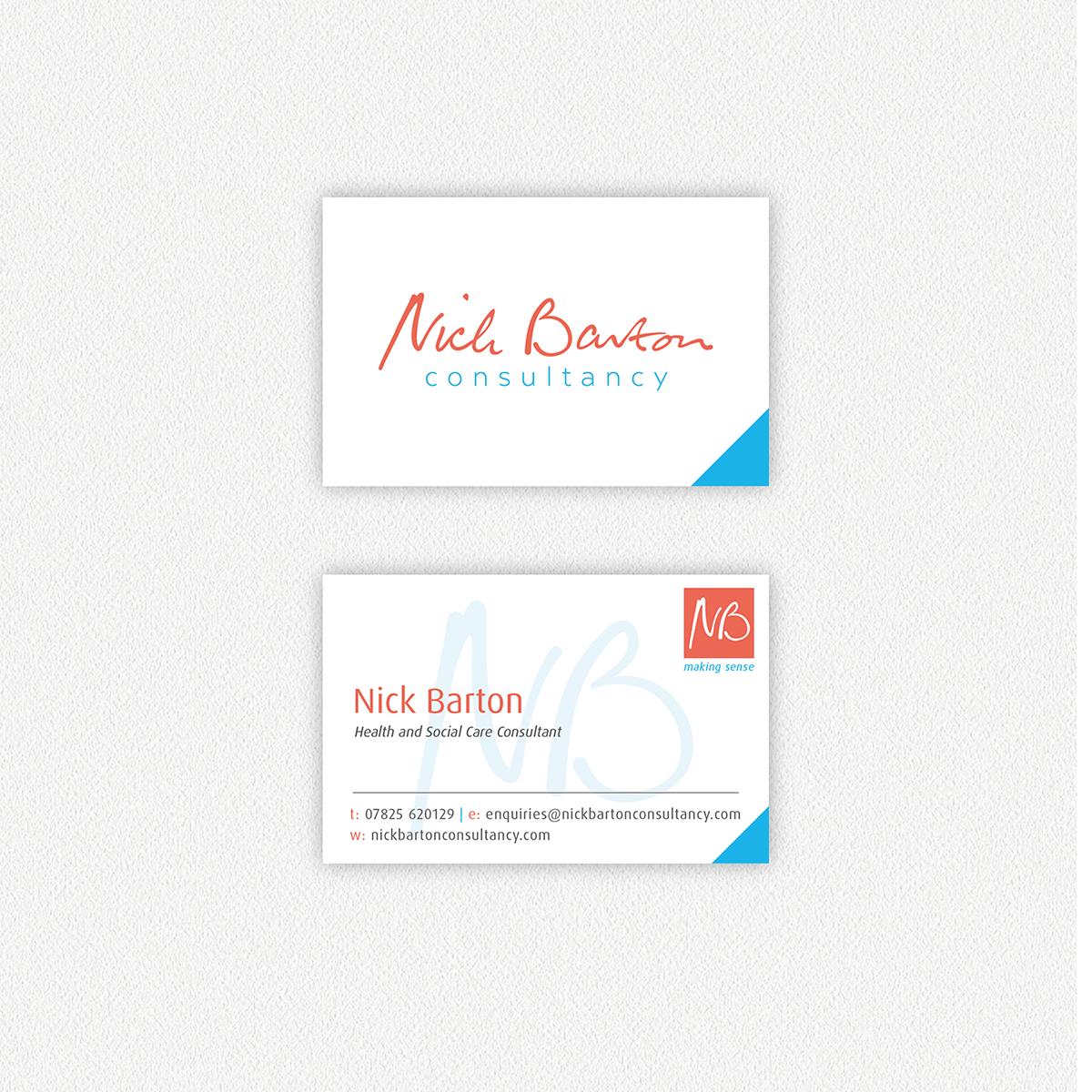 Nick Barton Consultancy — Business Card Design Dorset