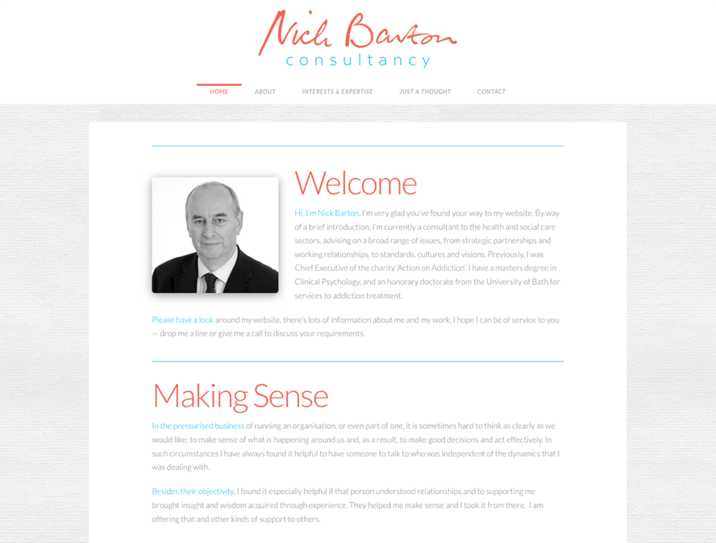 Nick Barton Consultancy — Brochure Web Design Dorset Home Page