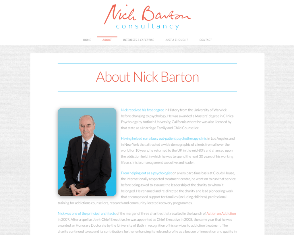 Nick Barton Consultancy — Brochure Web Design Sherborne About