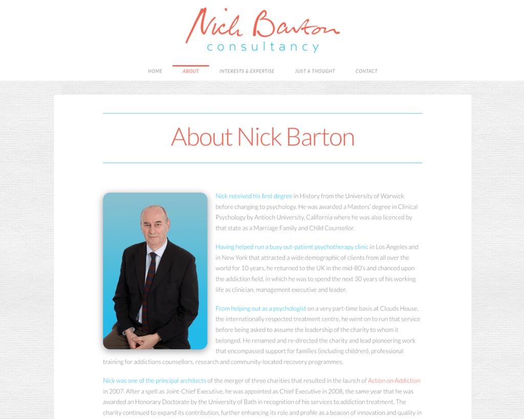 Nick Barton Consultancy — Brochure Web Design Sherborne About