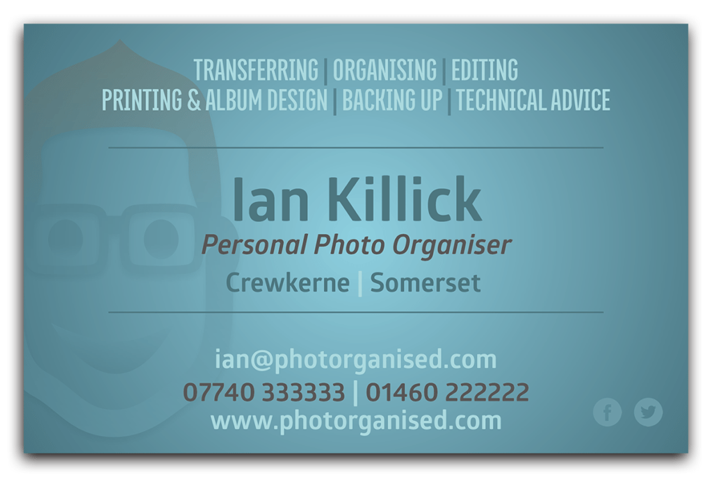 Photorganised Business Card Reverse Design by Digiwool