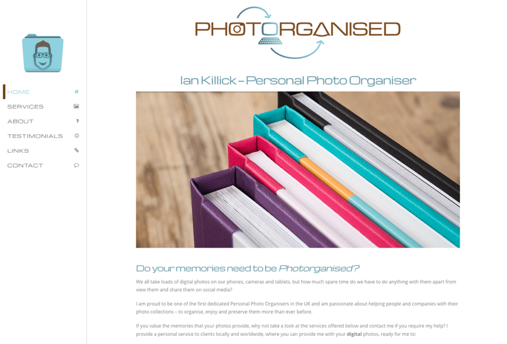 Photorganised's Logo and Website Design