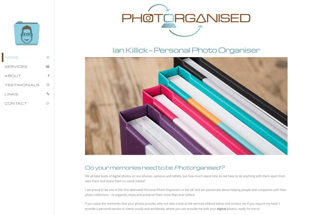 Photorganised's Logo and Website Design