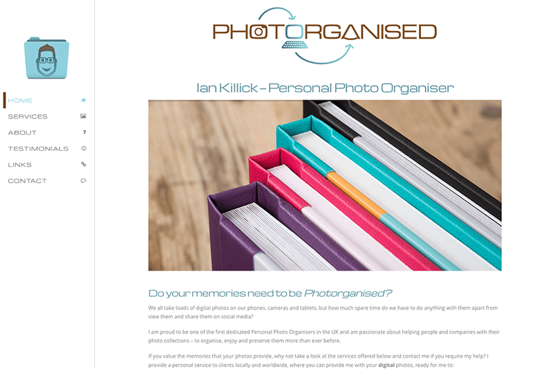 Photorganised Portfolio — Digiwool Web Design Dorset