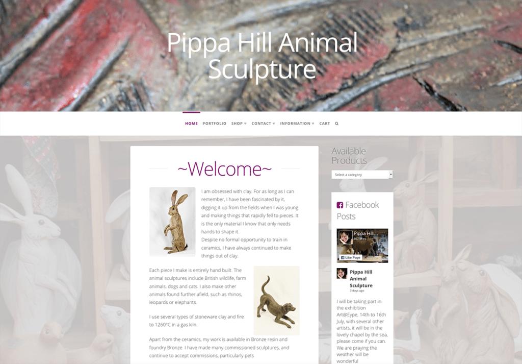 Pippa Hill Sculpture Portfolio Web Design Sherborne Dorset Home