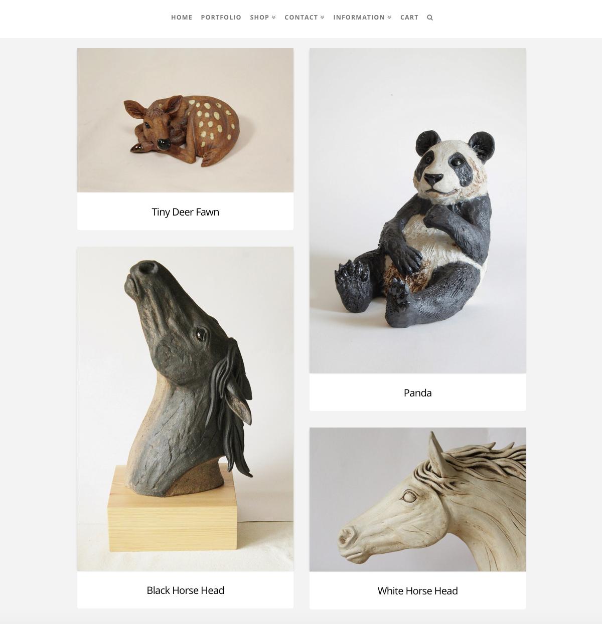 Pippa Hill Sculpture Portfolio Web Design Sherborne Dorset Portfolio Posts