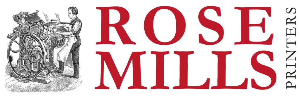 Rose Mills Printers Logo Design Yeovil