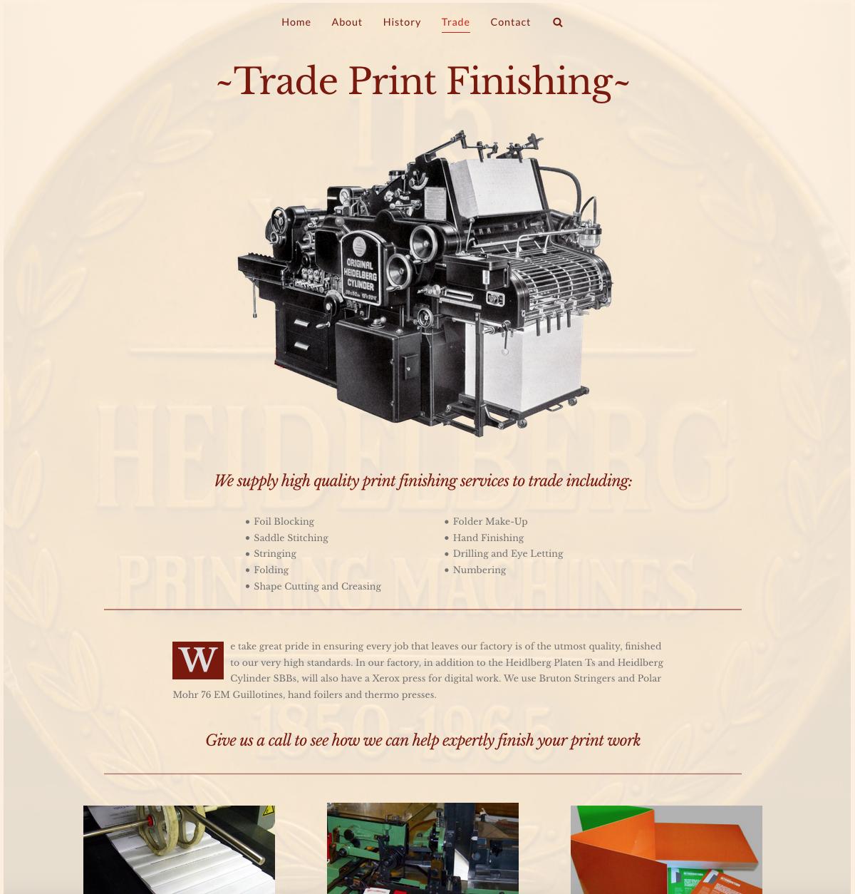 Rose Mills Printers Web Design Yeovil Somerset Trade