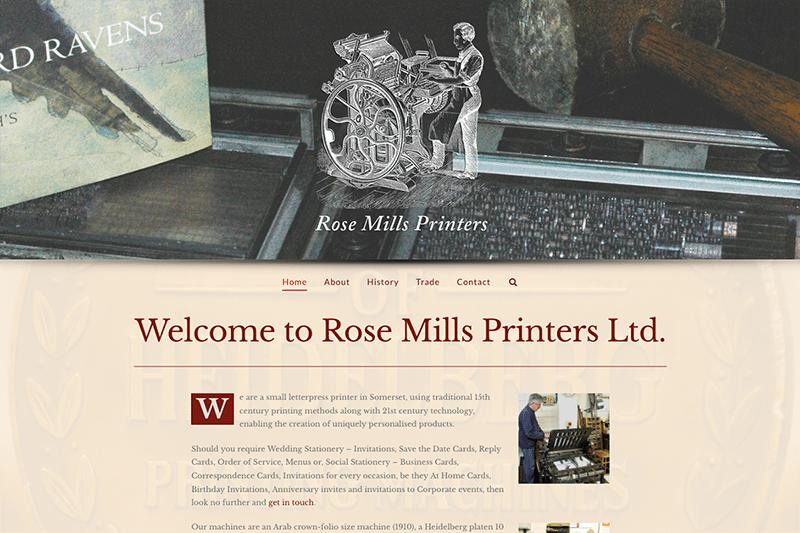Rose Mills Printers Yeovil - Digiwool Web Design