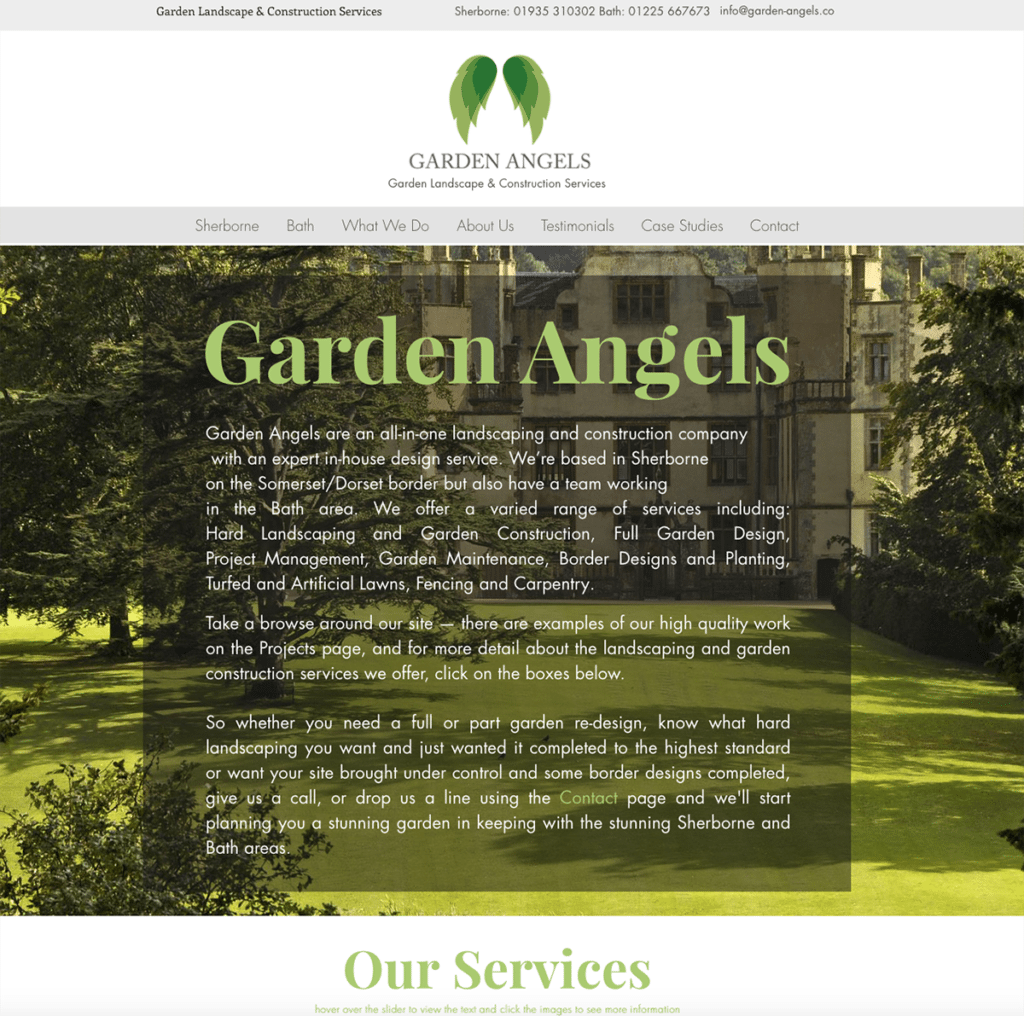 ls — Dorset Web Design Home Page